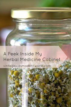Living Naturally: A Peek Inside My Herbal Medicine Cabinet || Vintage Kids | Modern World
