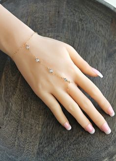 Business Ideas Discover Ring bracelet gold filled Slave Bracelet with mini cubic zirconia diamonds cz stones slave chainhand chain gold fill Stylish Jewelry, Cute Jewelry, Boho Jewelry, Jewelry Design, Fashion Jewelry, Prom Jewelry, Hand Jewelry, Jewelry Rings, Jewellery