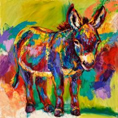 """I am releasing a new giclee print, """"The Burro Bindy"""", image size is 18x18"""", on archival paper, edition of 200, part of each sale goes to Equine Spirit Sanctuary, and Bindy will join us at the gallery June 28, I'll be painting him live..print info :http://www.horseart.us/meikleetchings.php"""