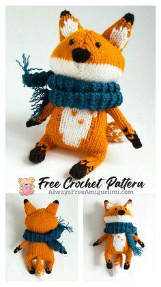 Free Crochet, Crochet Hats, Step By Step Crochet, Cute Fox, Learn To Crochet, Free Pattern, Dinosaur Stuffed Animal, Crochet Patterns, Homemade