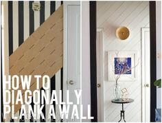 DIY Diagonal Plank Wall Tutorial