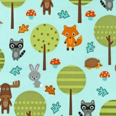 Ann Kelle - Woodland Pals - Woodland Pals in Nature. Adorable for a gender neutral kids room.