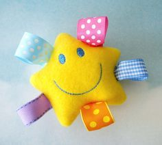 Embroidery Design for Machine Embroidery Smiling Star Toy In-The-Hoop. $3.99, via Etsy.