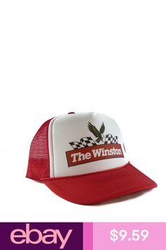 3650675daab Vintage The Winston Nascar Trucker Hat Nascar hat mesh hat snapback hat red