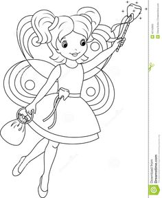Tooth Fairy Coloring Page | early morning program ideas | Pinterest ...