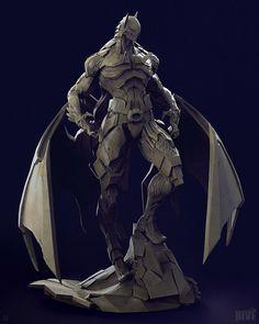Bat Mech Suit, Geng Gi on ArtStation at https://www.artstation.com/artwork/bat-mech-suit