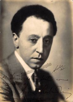 Rubinstein, Artur - Signed photo shown young