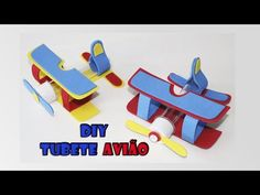 DIY crafts: tubete avião para lembrancinha do pequeno princípe - YouTube