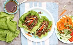 Thai Beef Lettuce Wraps — The Fountain Avenue Kitchen Asian Recipes, Healthy Recipes, Ethnic Recipes, Keto Recipes, Salade Healthy, Beef Lettuce Wraps, Sweet Potato Protein, Mushroom And Onions, Low Carb Lunch
