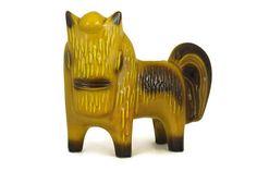 Mid-Century Modern Ceramic Horse Figure. French Vintage