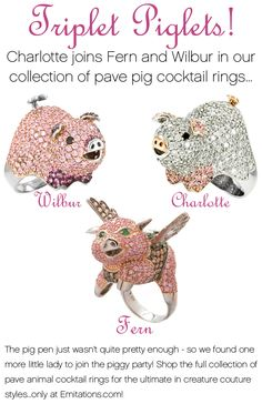 pig rings I WANT THESE! where can i get my hoofs into these rings??????