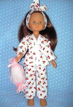 """Vêtement pour les Chéries de Corolle ou Little Darling 13"""" - Pyjama polochon"""
