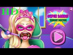♥ Barbie Girl Games Super Barbie Throat Doctor Video Gameplay For Girls ♥