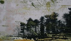 Koen Lybaert: Overpainted Photograph N°027 - oil on photograph [20 x 29] / 2013 - [Ardennes, Belgium]
