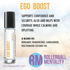 Ego Boost Rollerball Mentality Blend great for #confidence #courage #uplifting #calm