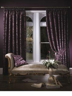 deep purple curtain luxury
