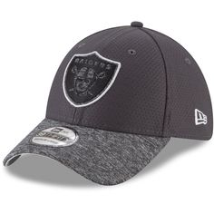 on sale 0dcc1 24e25 Men s Oakland Raiders New Era Graphite Heathered Gray Popped Shadow  39THIRTY Flex Hat, Your Price   29.99