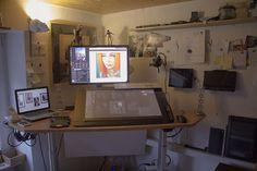 Wacom 27QHD + Ergotron Arm + Desktop Hacks ~ Ars Fantasio