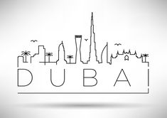 54 Different World Cities Skyline Instagram Logo, Instagram Story, Skyline Tattoo, City Sketch, City Drawing, City Icon, Minimalist Drawing, Dubai City, Bullet Journal Ideas Pages