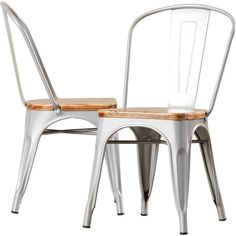 Featuring a galvanized steel frame and weathered wood seat, this industrial-inspired side chair is a handsome addition to your dining room or breakfast nook ensemble.