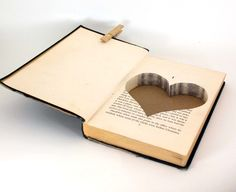 """Hollow Book Safe - this would be cute for macen to carry """"the rings"""" in Cute Proposal Ideas, Book Proposal, Proposal Ring, Folded Book Art, Book Folding, Up Book, Love Book, Wedding Pics, Dream Wedding"""