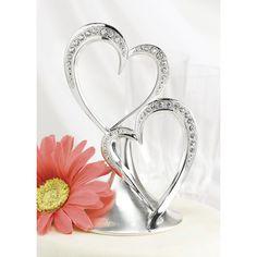 Sparkling Love Cake Top - Silver
