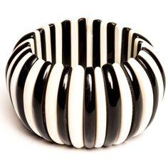 Bajalia padmai Stretch Bracelet Black, White By (€64) ❤ liked on Polyvore featuring jewelry, bracelets, artificial jewellery, white jewelry, imitation jewellery, fake jewelry and imitation jewelry