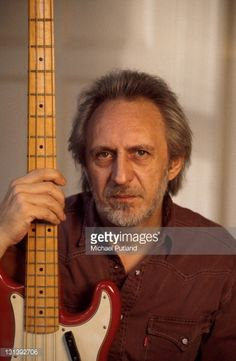 John Entwistle of The Who, portrait, at home, UK, 1998