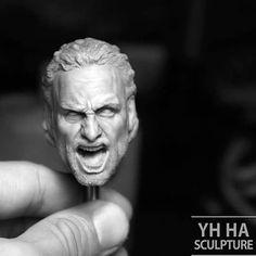This is my recent head sculpt. Let's scream! :) #figure #sculptures #Yh Ha…