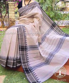 Elegant Chettinad Cotton Saree with Woven border