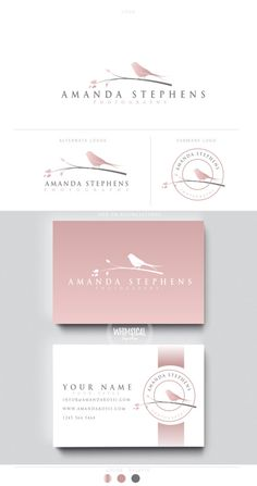 Logo Branding, Branding Design, Photographer Packaging, Printable Business Cards, Watercolor Logo, Children's Boutique, Professional Business Cards, Brand Packaging, Logo Design Inspiration