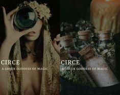 circe (Κίρκη) - greek goddess/sorceress of magic Greek Gods And Goddesses, Greek And Roman Mythology, Names Of Goddesses, Greek Goddess Of Magic, Goddess Names, Aesthetic Names, Greek Names, Roman Gods, Pretty Names