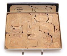 Enzo Mari, 16 animali, animal figures, Danese Milano, 1957