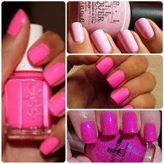 Easy Nail Designs for Short Nails For more fashion and wedding inspiration visit www.finditforweddings.com Pink Nail Art