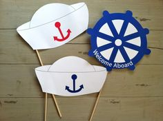Anker weg nautische Sailor Foto Booth Party Requisiten Anker Weg nautische Sailor's Photo Booth Part Sailor Party, Sailor Birthday, Nautical Mickey, Nautical Party, Nautical Photo Booth, Baby Boy Shower, Baby Shower Themes, Baby Shower Marinero, Photo Booth Party Props