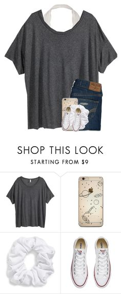 """hola"" by cait926 ❤ liked on Polyvore featuring H&M, Hollister Co., Natasha and Converse"