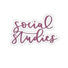 Items similar to Social Studies - School Organization Sticker - Purple on Etsy Preschool Social Studies, Social Studies Projects, Social Studies Classroom, History Classroom, School Binder Covers, Cute Laptop Stickers, Teacher Stickers, Subject Labels, World History Lessons