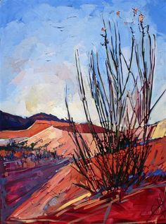 Coral Pink Sand Dunes oil painting landscape by Erin Hanson
