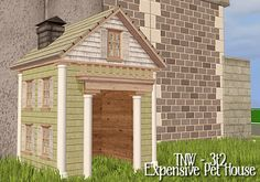 zerographic | Recolors of TNW 3t2 Pet House Sims 2 Pets, Sims 1, Buy Pets, Pet Lovers, Animal House, Outdoor Structures, Content, Animals, Decor