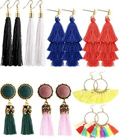 Boosic Simulated Pearl Cotton Tassel Earrings
