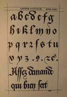 Lettre batarde.jpg  Jessen Meister der Schreibkunst     1529
