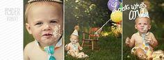 Baby boy / Toddler Cake Smash Birthday by FuzzyCheeksBoutique