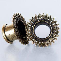 Brass Tunnel - Piercing Tunnel - Ear Tunnel - Brass Plugs - Brass Tunnels - Ear Plugs - Piercing Plugs - Ear Gauges by RONIBIZA on Etsy https://www.etsy.com/listing/216641677/brass-tunnel-piercing-tunnel-ear-tunnel