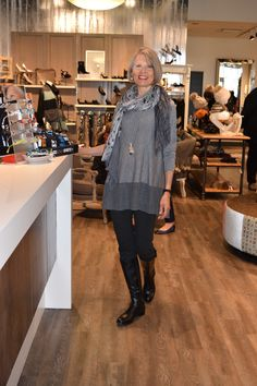 33b241eb0e October 2015 Eileen Fisher s A-line colour blocked merino wool tunic pairs  beautifully with the slim leg pant and riding boot We ve doubled up on ...
