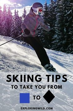 Why You're Still An Intermediate Skier: 14 Skiing Tips to Raise Your Downhill Game This Winter You don't have to ski blues for all eternity. Here are 14 actionable tips you can try right now to get comfortable skiing advanced runs this winter. Skiing Workout, Best Skis, Ski Vacation, Ski Season, Ski Holidays, Ski And Snowboard, Snowboarding Tips, Ski Ski, Snow Skiing