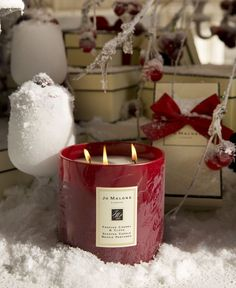 JoMalone Ltd edition candles Christmas Mood, Merry Christmas And Happy New Year, Candle Lanterns, Candle Jars, Perfume, Edc, Holiday Gifts, Christmas Gifts, Candle Branding