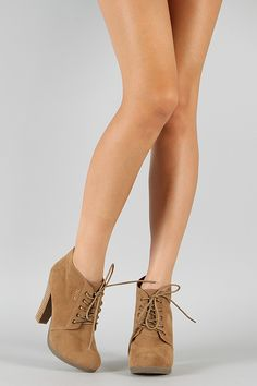 Bamboo Otis-01 Lace Up Ankle Bootie