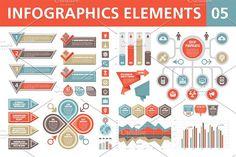 Infographics Elements 05 by serkorkin on @creativemarket