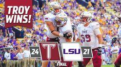 Troy Trojans defeat LSU 24-21