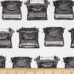 Objects von Robert Kaufman ist ein moderner Patchworkstoff aus 100% Baumwolle, der tolle Vintage-Motive enthält. Alte Zeitung, Schreibmaschinen und Kameras/Polaroids. Lässt sich super in Quilts,...